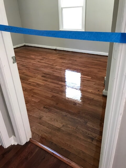 Harwood finish drying quickly in Stone Mountain, GA from Delta Carpet & Decor