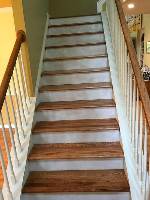 Newly renovated stairs in Atlanta, GA from Delta Carpet & Decor