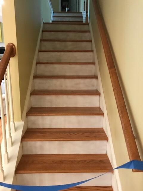 Stair reno in progress in Atlanta, GA from Delta Carpet & Decor