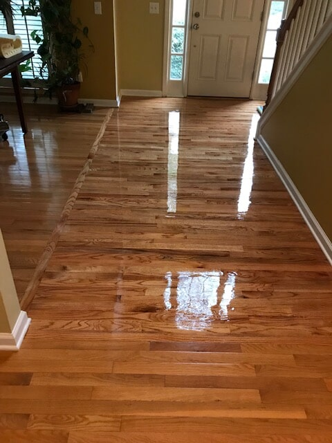 Entryway with beautiful hardwood in Duluth, GA from Delta Carpet & Decor