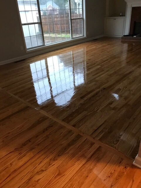 Multi-room hardwood with trim in Duluth, GA from Delta Carpet & Decor