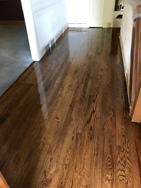 New hardwood and baseboards in Lawrenceville, GA from Delta Carpet & Decor