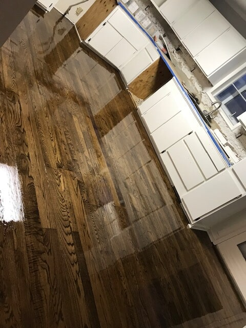 Kitchen with refinished hardwood in Norcross, GA from Delta Carpet & Decor