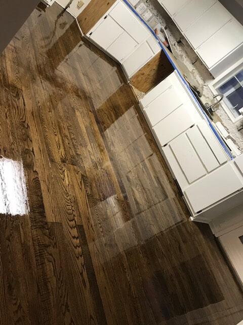 Kitchen like new with refinished flooring in Norcross, GA from Delta Carpet & Decor