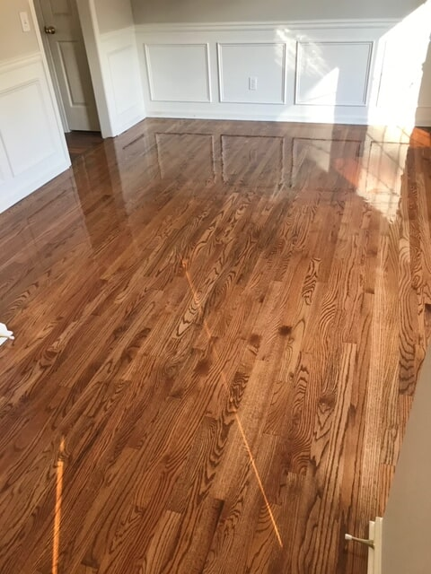 Renovated home with refinished hardwood from Delta Carpet & Decor