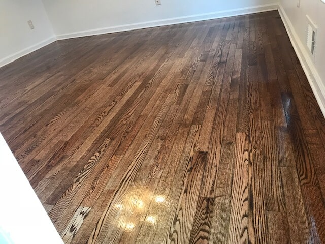 Hardwood refinished by experts in Atlanta, GA from Delta Carpet & Decor