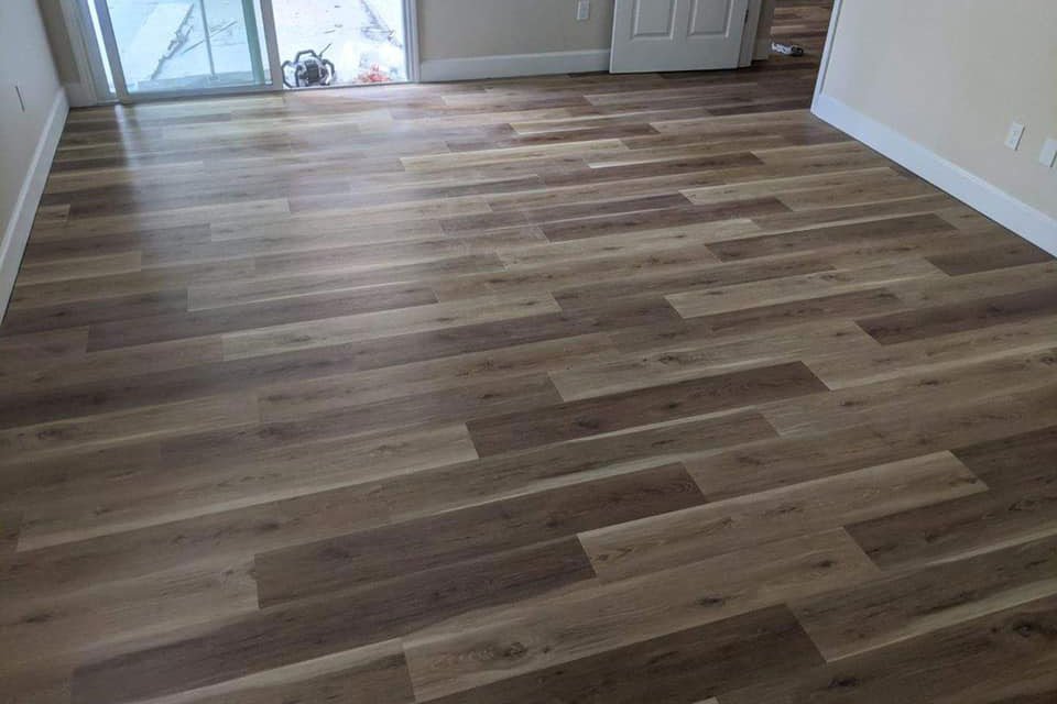 Multi-tone hardwood flooring in Citrus County, FL from LePage Carpet & Tile