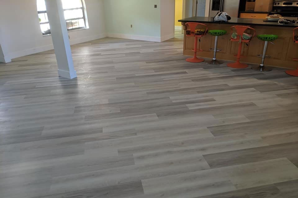 Light tone wood look flooring in Citrus County, FL from LePage Carpet & Tile