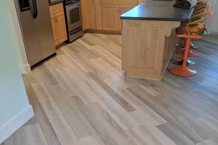 White wood look waterproof flooring in Citrus County, FL from LePage Carpet & Tile