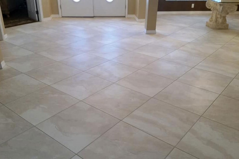 Classic tile installation in living space in Lecanto, FL from LePage Carpet & Tile