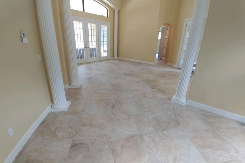 Large tile flooring installation in Crystal Rivers, FL from LePage Carpet & Tile