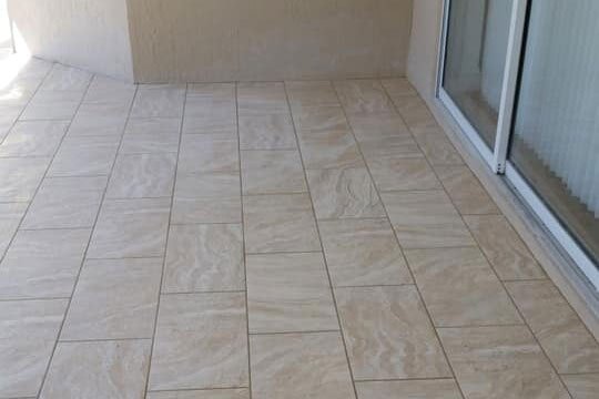 Stone tile patio in Crystal Rivers, FL from LePage Carpet & Tile
