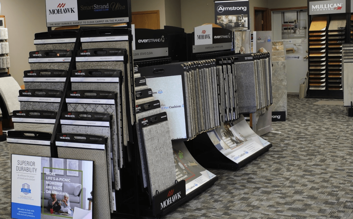 Visit Flooring Inspirations today in Janesville, WI to see displays like these