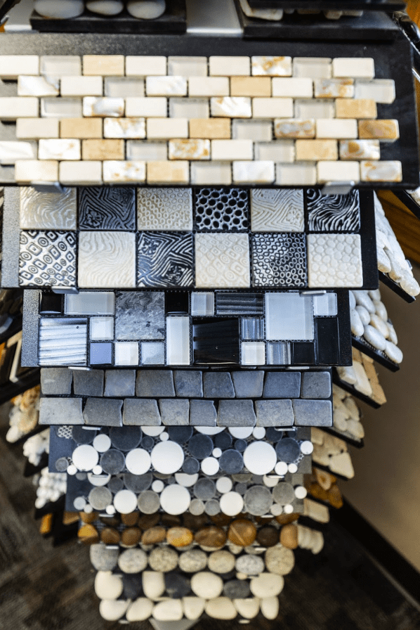Many glass tile options at Flooring Inspirations in Janesville, WI