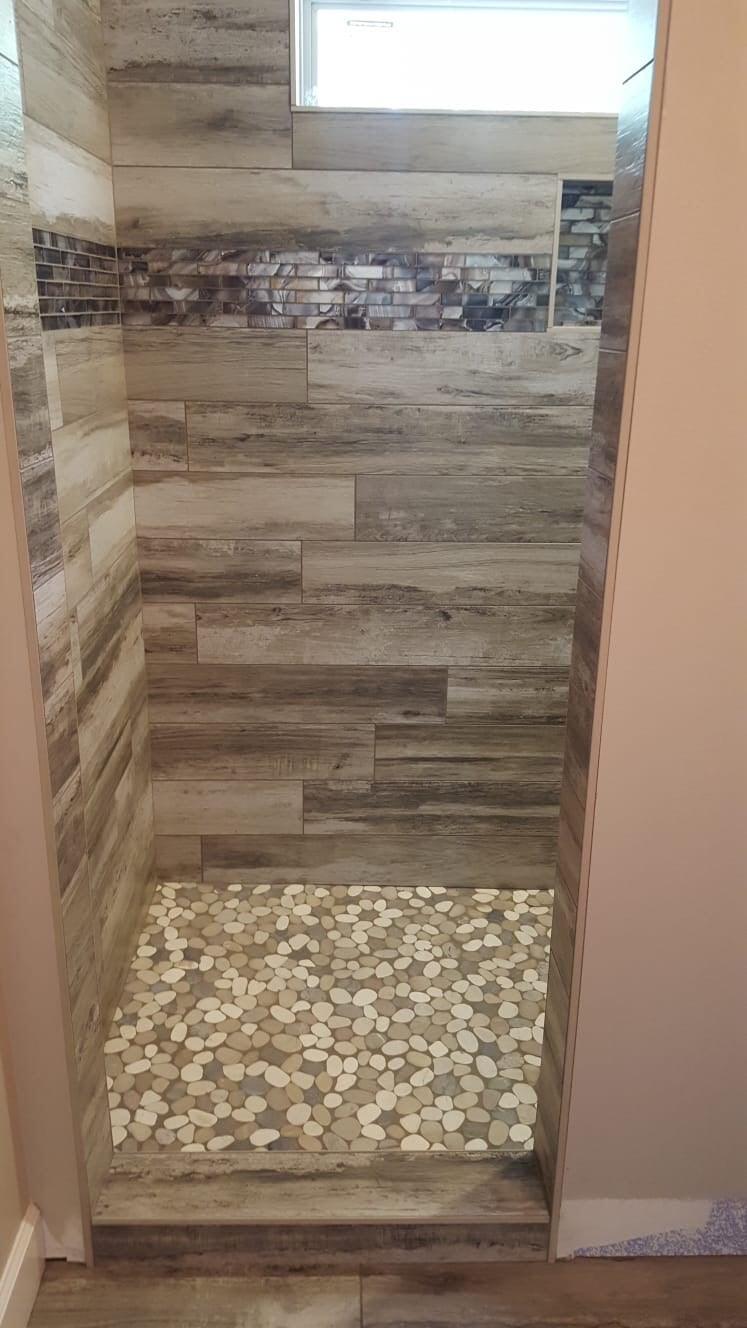 Shower tile from Roop's Carpet in Beebe, AR