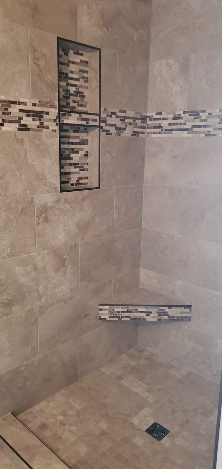Shower tile from Roop's Carpet in Cabot, AR