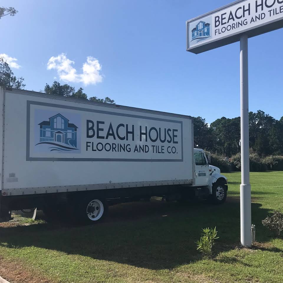The Beach House Flooring and Tile Co. truck, ready to help with your Kitty Hawk, NC installation