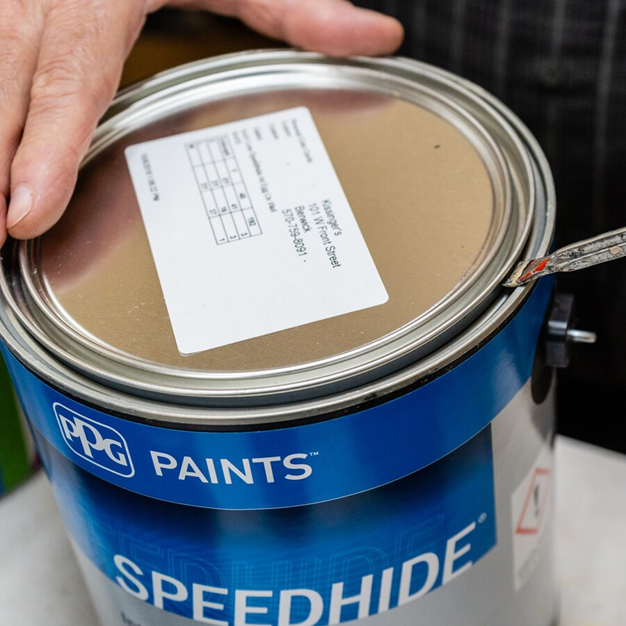 Open up a can of your perfect paint color from Kissingers Floor & Wall
