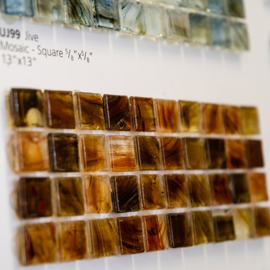 Naturally colored square mosaics for your Schuylkill Haven, PA backsplash