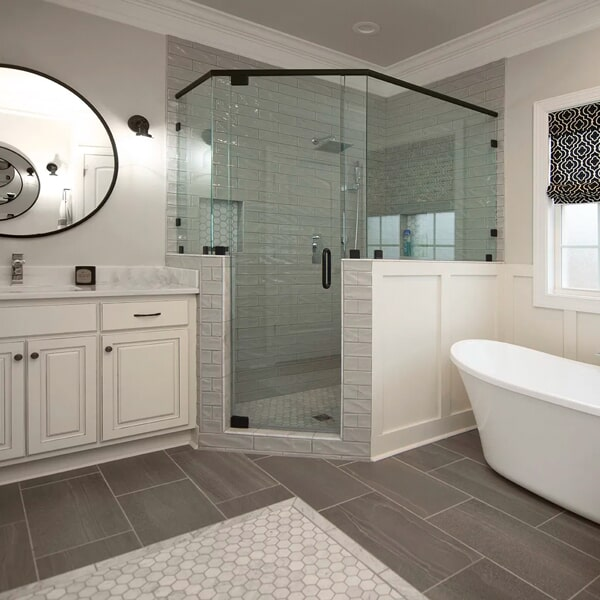 Beautiful bathroom inspiration in Columbia, TN from Inspired Flooring & Design