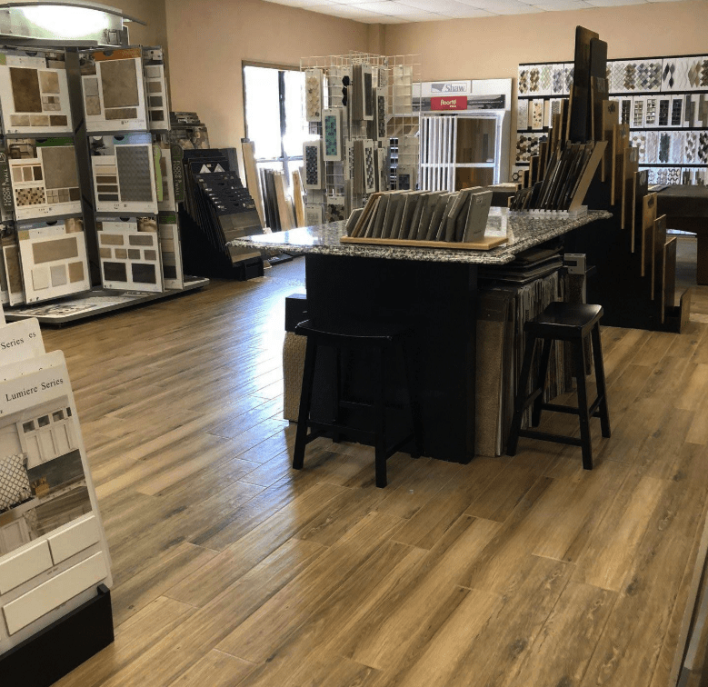 HC Floors and More showroom in Burnet, TX