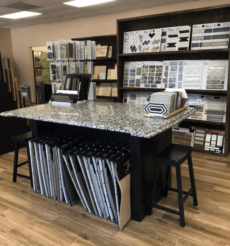 HC Floors and More showroom in Marble Falls, TX