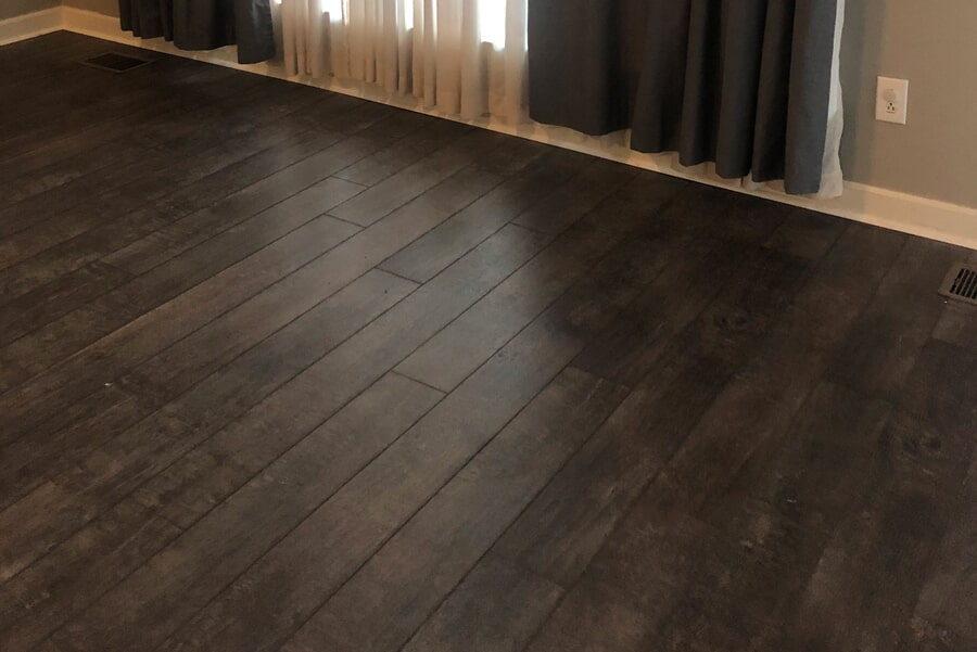 Dark tone hardwood flooring install in Brentwood, TN from Inspired Flooring & Design