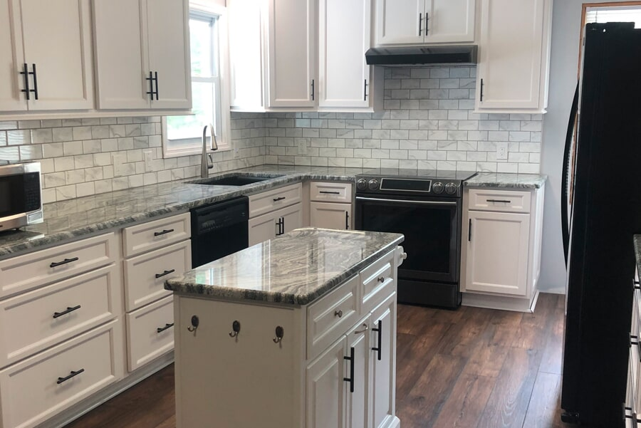 kitchen remodel with beautiful countertops in Spring Hill, TN from Inspired Flooring & Design
