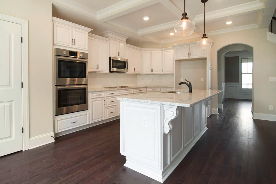 Modern kitchen renovation with classic flooring in Brentwood, TN from Inspired Flooring & Design