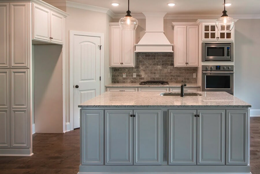 Kitchen renovation with wood look flooring in Brentwood, TN from Inspired Flooring & Design
