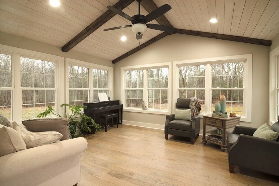 Living area with new hardwood and lots of natural light in Spring Hill, TN
