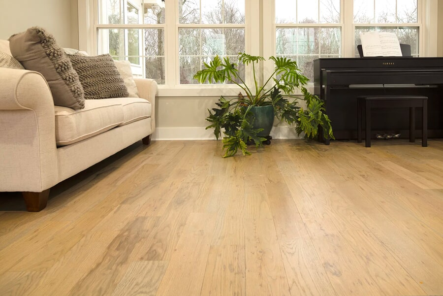 Light tone hardwood flooring installation in Brentwood, TN from Inspired Flooring & Design