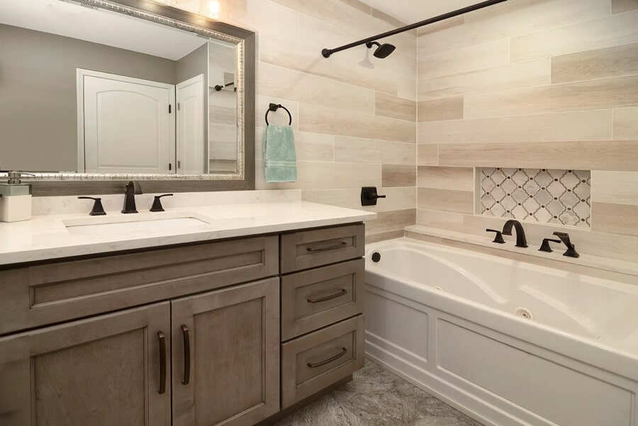 Beautiful master bathroom in Columbia, TN from Inspired Flooring & Design