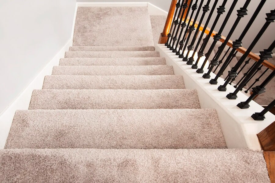 Carpeted stairs installation in Brentwood, TN from Inspired Flooring & Design