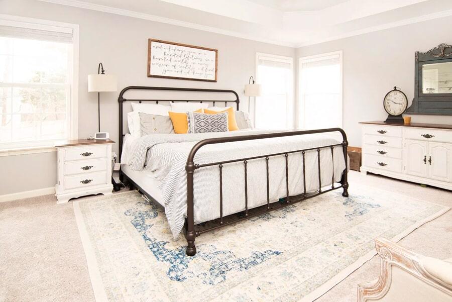Bright master bedroom in Franklin, TN from Inspired Flooring & Design