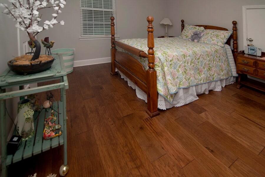 Classic master bedroom flooring installation in Franklin, TN from Inspired Flooring & Design