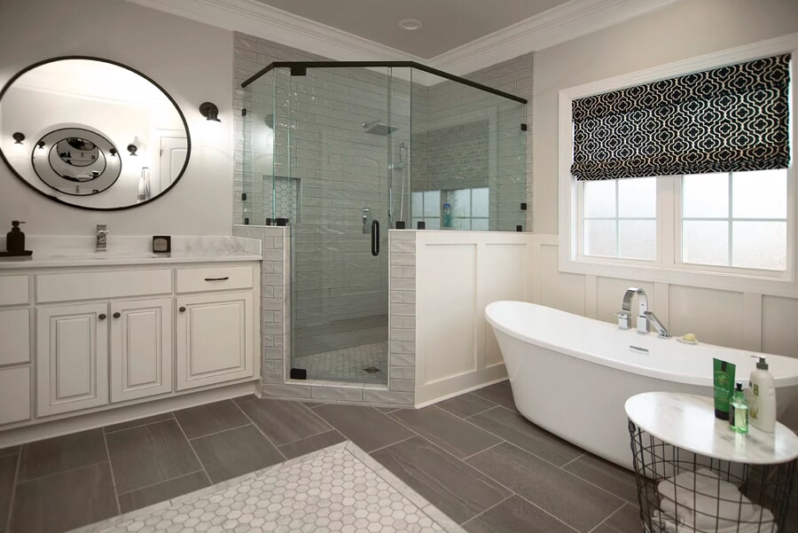 Beautiful bathroom renovationin Thompson's Station, TN from Inspired Flooring & Design