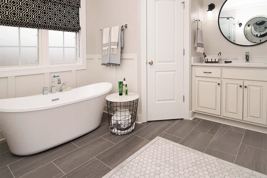 Modern bathroom with soaking tub in Spring Hill, TN from Inspired Flooring & Design