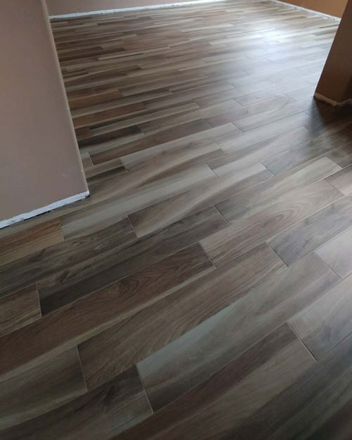 Beautiful multi-tone wood look flooring in Fontana, CA from Perry's Complete Floor