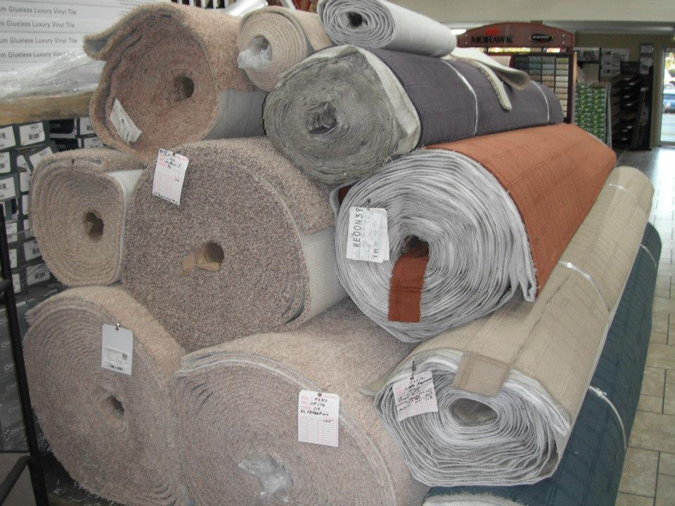 Carpet rolls in classic colors from L&M Floors in McMinnville, TN