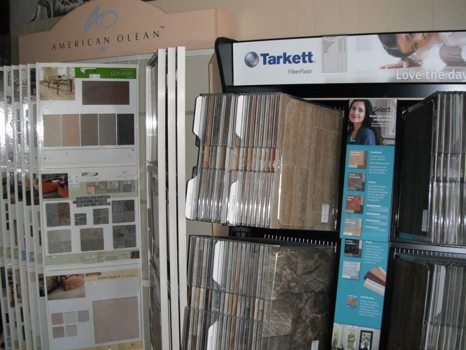 We have flooring from top brands like Tarkett and American Olean at L&M Floors