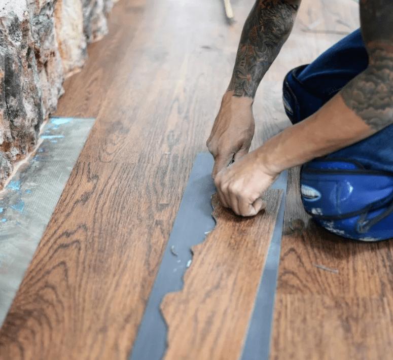 Hardwood flooring installation from Stafford's Discount Carpets in Redlands, CA