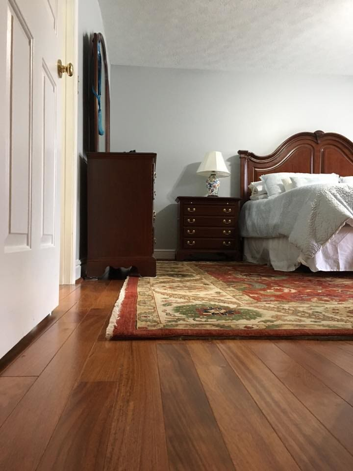 3/4 Brazilian cherry hardwood and interior painting done by D.L Richie Paint n' Decorating Center in Mount Lebanon, PA