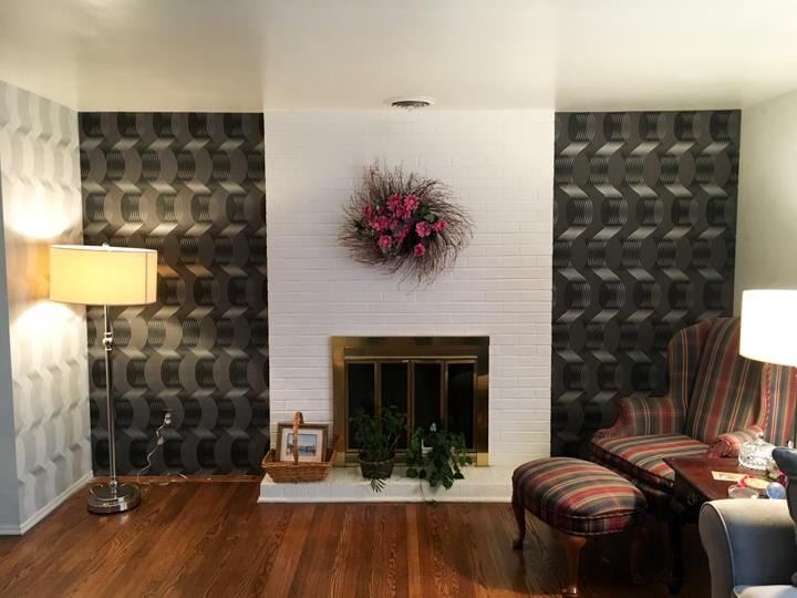 Wall paper from D.L Richie Paint n' Decorating Center in Bethel Park, PA
