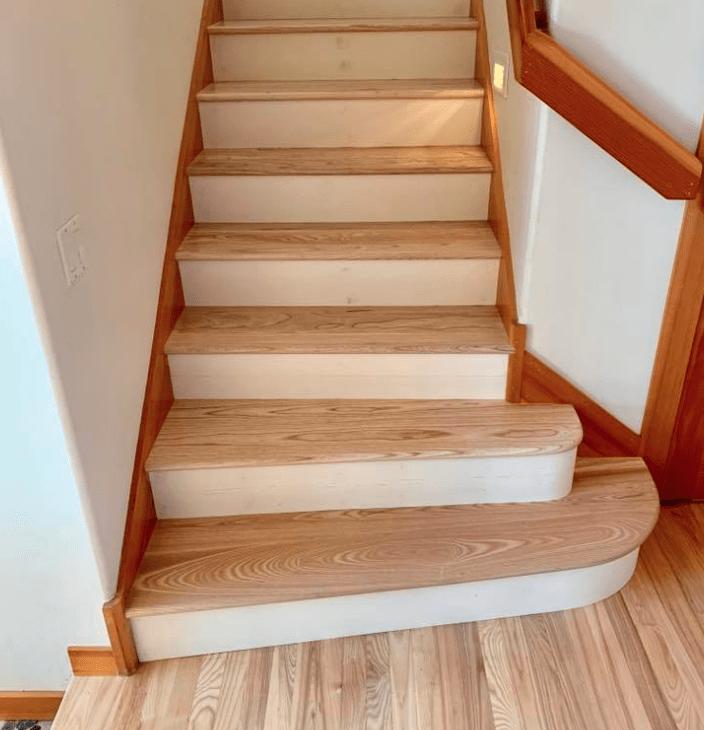 Hardwood stairs from Morris Floors & Interiors in Deming, WA