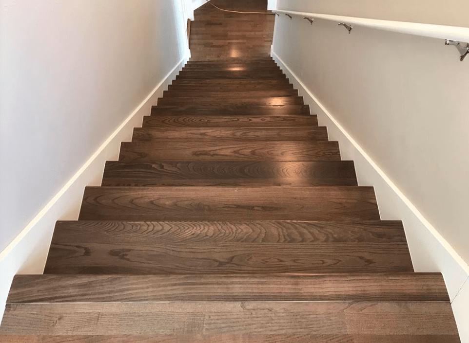 Hardwood stairs from Morris Floors & Interiors in Mt Vernon, WA