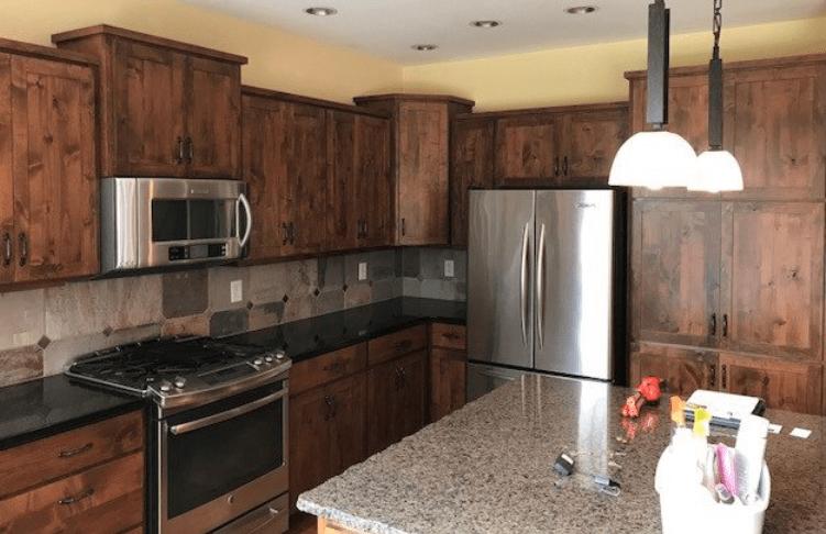 Backsplash and countertops from Morris Floors & Interiors in Lynden, WA