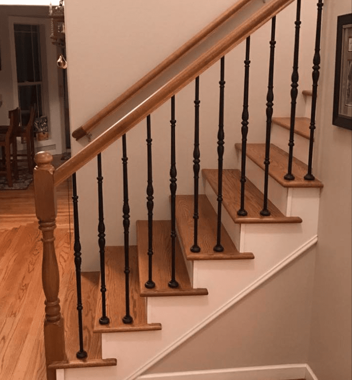 Hardwood stairs from Morris Floors & Interiors in Lynden, WA