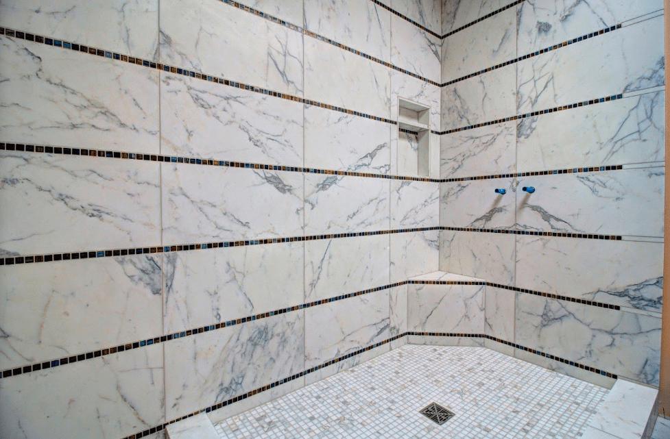 Shower tile from Morris Floors & Interiors in Bellingham, WA