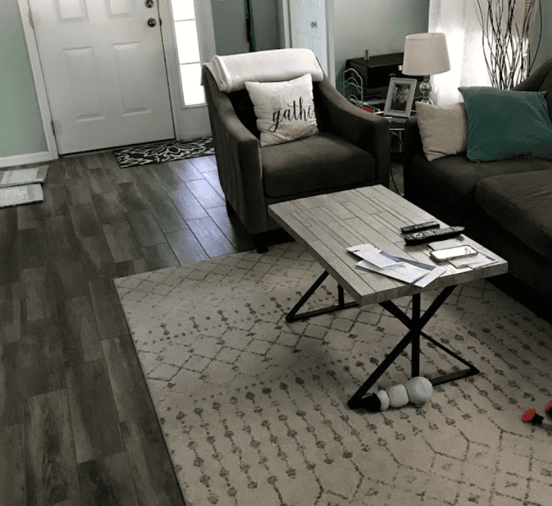 Modern living space with new flooring in Sun City Center, FL from Brandon Tile & Carpet